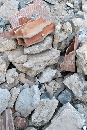 material from demolished house photo