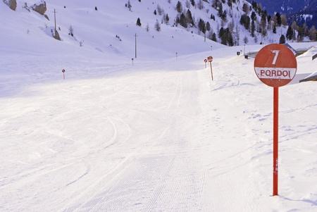 ski slopes in winter with snow Stock Photo - 8869826
