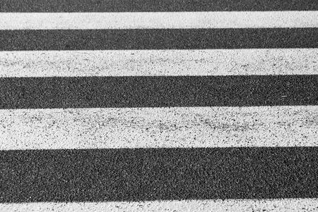 crosswalks, white on black asphalt