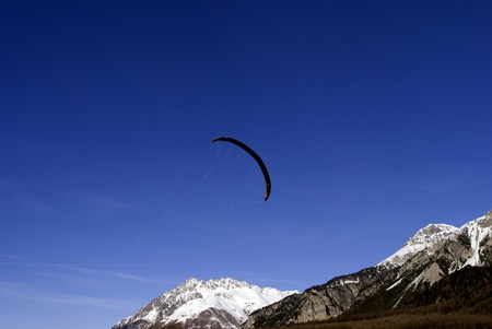 snowkiting: snowkiting sail, used to fly on skis
