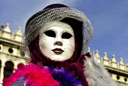 Carnival of Venice, colorful masks and artistic Stock Photo - 9017510
