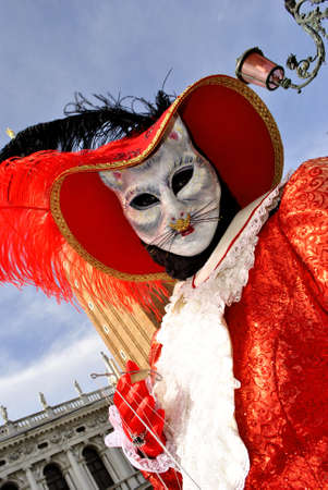 carnival masks, colorful and beautiful art. In Venice  photo