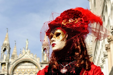 Carnival of Venice, colorful masks and artistic