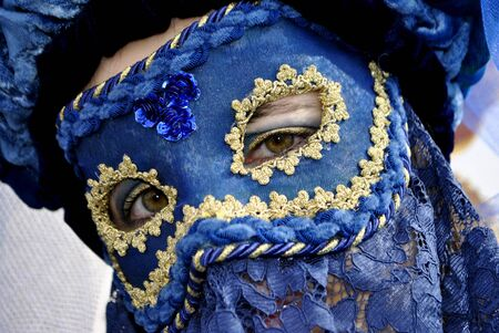 Carnival of Venice Portrait colorful and traditional Venetian mask photo