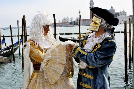 Carnival of Venice, colorful masks and artistic Stock Photo - 9022070