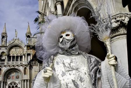 Carnival of Venice, colorful masks and artistic photo