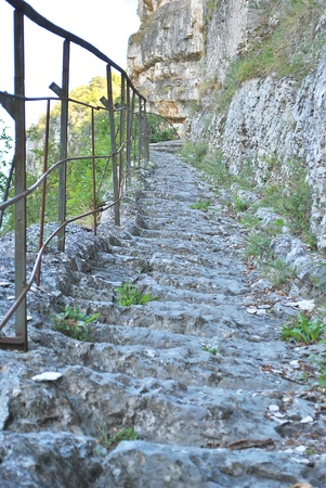 ravage: stone steps carved into the rock