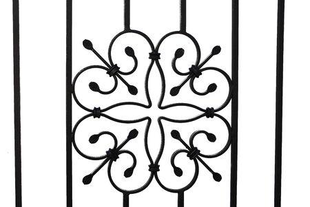 puertas de hierro: puerta de hierro forjado