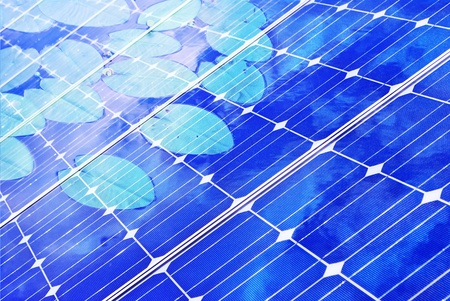 isolated solar panel, green economy photo