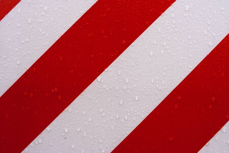 red and white stripes, with drops of water Stock Photo - 9299683