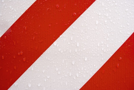 red and white stripes, with drops of water Stock Photo - 9299689