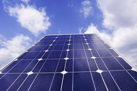 Solar panel detail. ecological solar power station