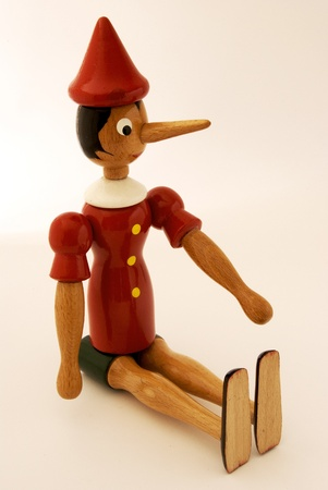 Pinocchio on white background photo