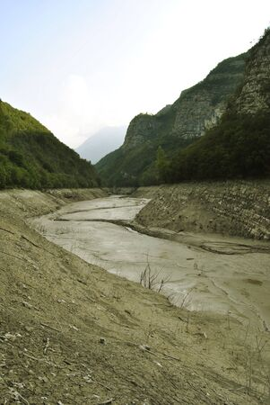 river bed: Dry River Bed. In Italy