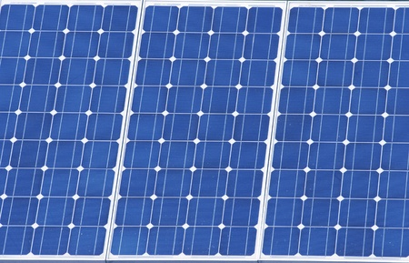Solar panel. Green energy from sun photo