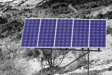 Solar panel. Green energy from sun