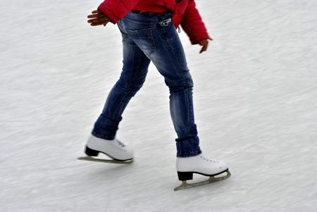 patinaje sobre hielo: La gente de patinaje sobre hielo Foto de archivo