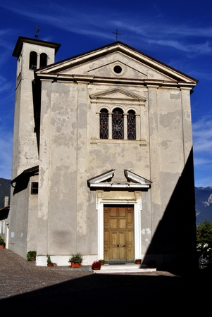 Italy  in a small town. Trentino photo