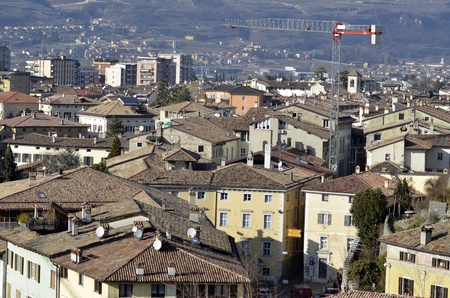 The Rovereto city as seen from above Stock Photo - 12782870