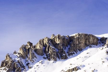 fassa: view of the Italian Alps in Val di Fassa