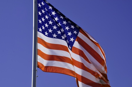 American flag background waving in the wind  photo