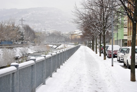 Street covered by snow Stock Photo - 21439292