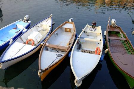 old motor boat in the lake of Garda