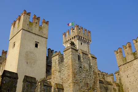 sirmione: Castle Sirmione on lake Garda, Italy Editorial