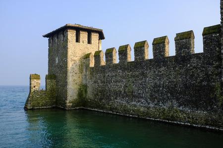 sirmione: Castle Sirmione on lake Garda, Italy Editorial