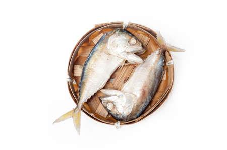 fish thai bamboo market mackerel photo