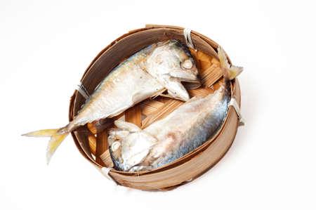 fish thai bamboo market mackerel Stock Photo - 21212448