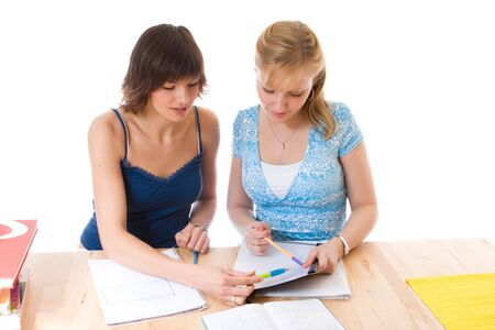 Studying together Stock Photo - 2981782