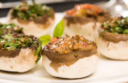 Filled mushrooms. shallow depth of field Stock Photo - 3876845