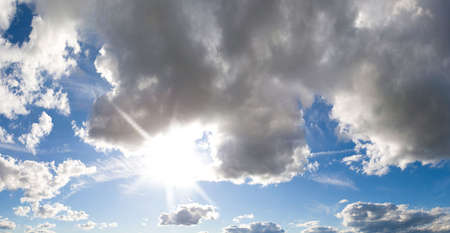 Sky with sun braking through Stock Photo - 3876843
