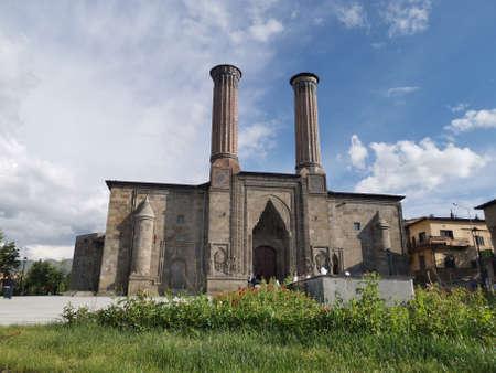 Double minaret madrasah in Erzurum Turkey