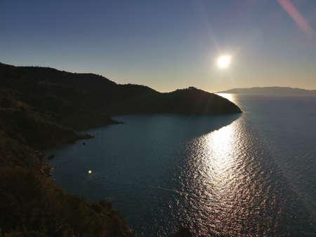 Sun undoing on Monte Argentario in Italy