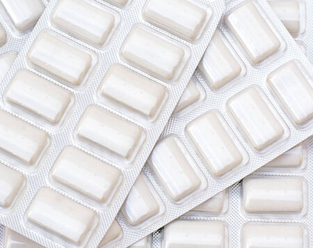 anti smoking: Packets of Nicotine Gum to help stop smoking