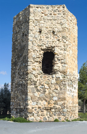watchtower: A Spanish watchtower In Southen Spain Stock Photo