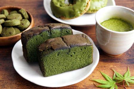 Matcha flavored sweets. Matcha is Japanese tea. Reklamní fotografie