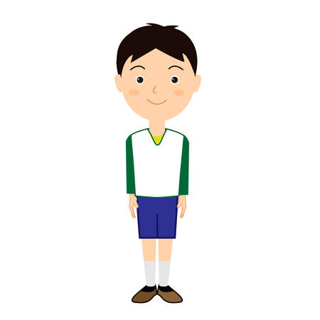 Illustration of a cute boy. Standard-Bild - 146363257