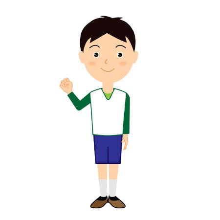 Illustration of a cute boy.