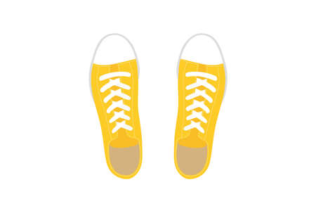 Illustration of Casual Yellow Sneakers.