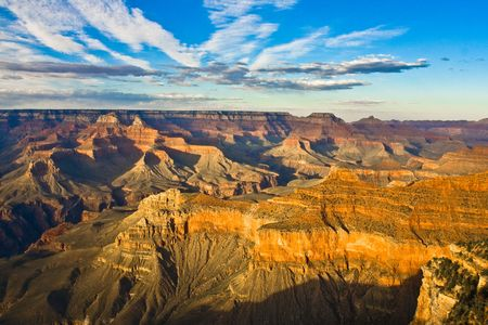 colorfuls: Landscape view of the Grand Canyon at sunset Stock Photo