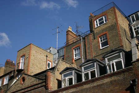 Casas en Londres, Inglaterra  Foto de archivo - 740601
