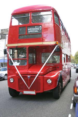 wedding special doubledecker bus in london
