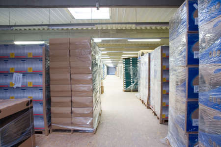 depository: inside of a Warehouse Stock Photo