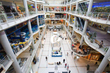 business centre: multilevel shopping mall