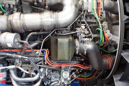 Aircraft jet engine detail Stock Photo