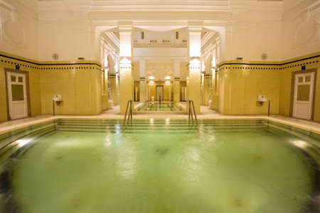 wimming pool in the public baths Stock Photo