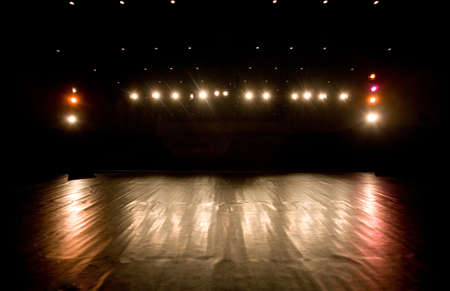 empty stage: spotlights on a modern theater stage